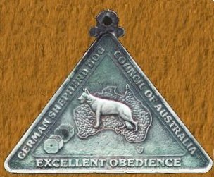 Obedience Excellent Medal